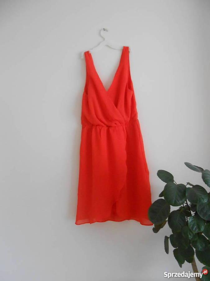 b330bd9de6 Czerwona sukienka idealna na lato wiosna H M Brzozów - Sprzedajemy.pl