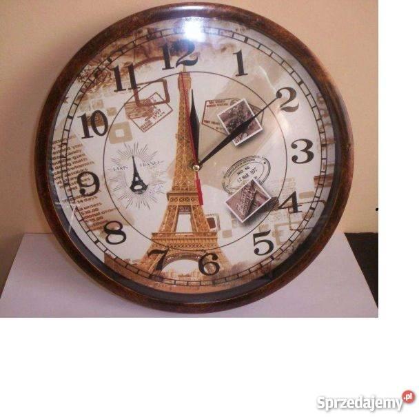Zegar Wieża Eiffla Paryż ścienny na ścianę Katowice