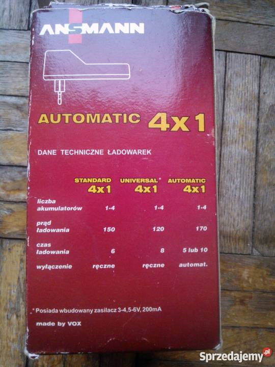 Ładowarka akumulatorków NiCd NiMH automatic
