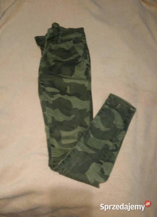 Spodnie rurki moro XS