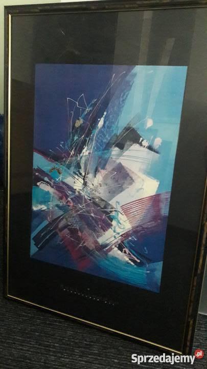 Sprzedam Oprawione Plakatygrafiki Barwna Abstrakcja