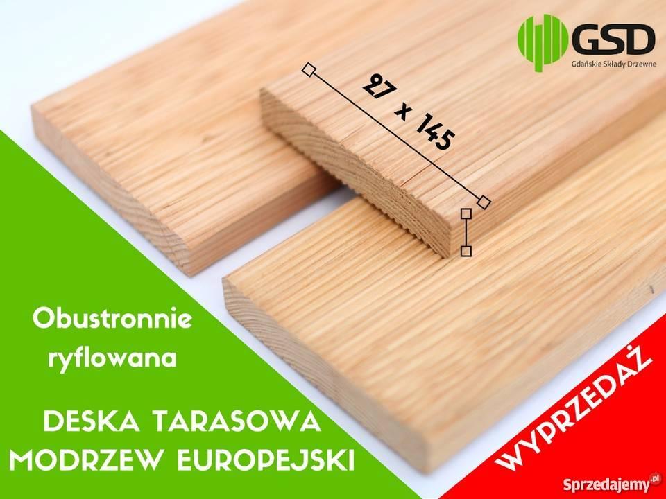 Promocja Deski Tarasowe Modrzew Europejski 27x145 Deska