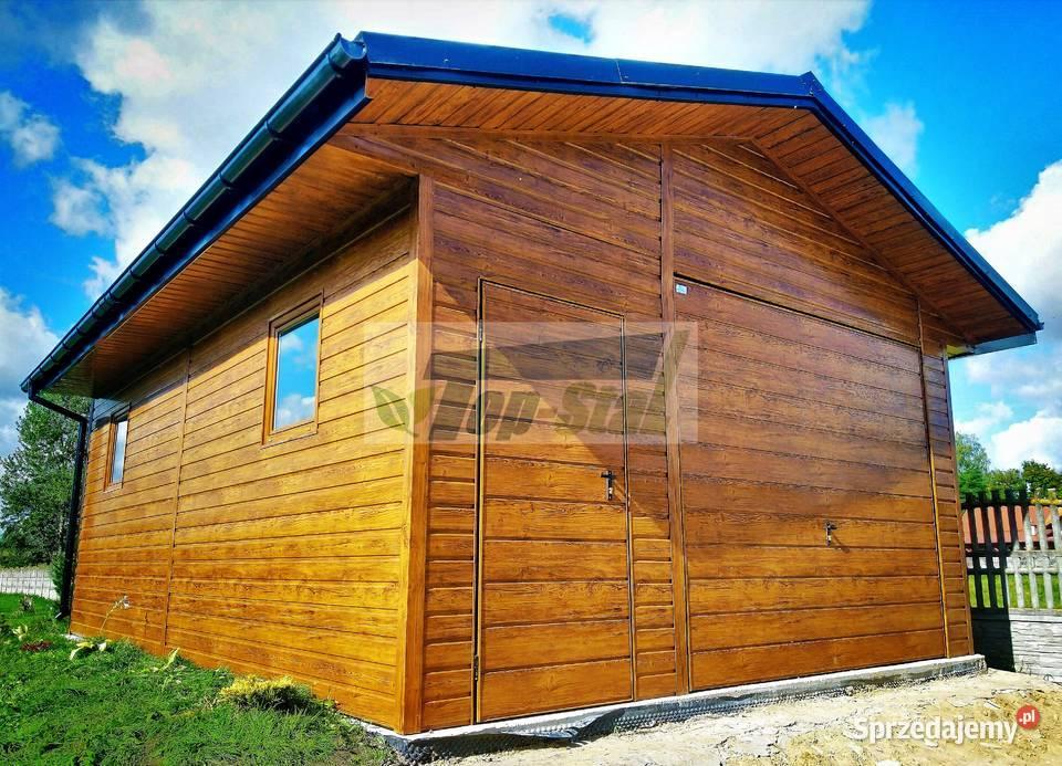 GARAŻ Blaszany NA WYMIAR Drewnopodobny | Akrylowy HIT CENOWY