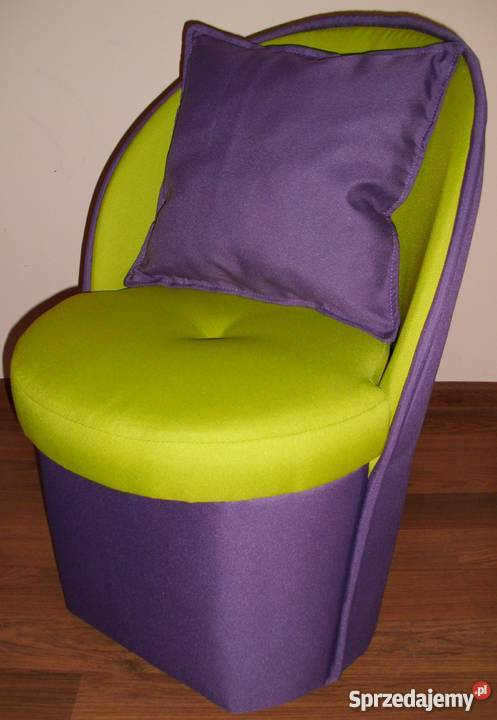 Fotelik fotel pufa z oparciem pufy12 kolorów Janisławice