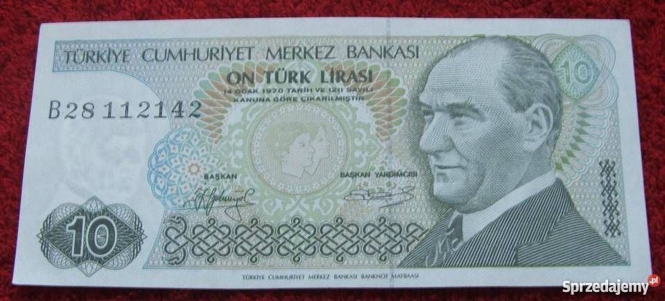 TURCJA 10 LIRASI 1970 Kolekcjonerski Banknot 1 sprzedam