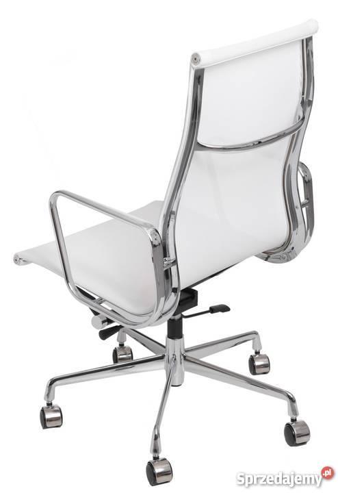 Designerski Fotel Biurowy Bialy Siateczka