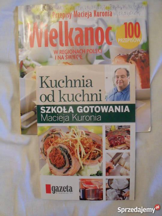 Przepisy Macieja Kuronia 2 pozycje miękka Poradniki, albumy i reportaże