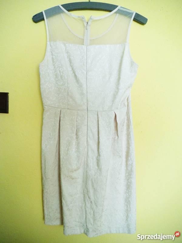 24374c56ff kremowa sukienka s wesele ecru koronka. kremowa sukienka s wesele ecru  koronka bez rękawa Rzeszów sprzedam