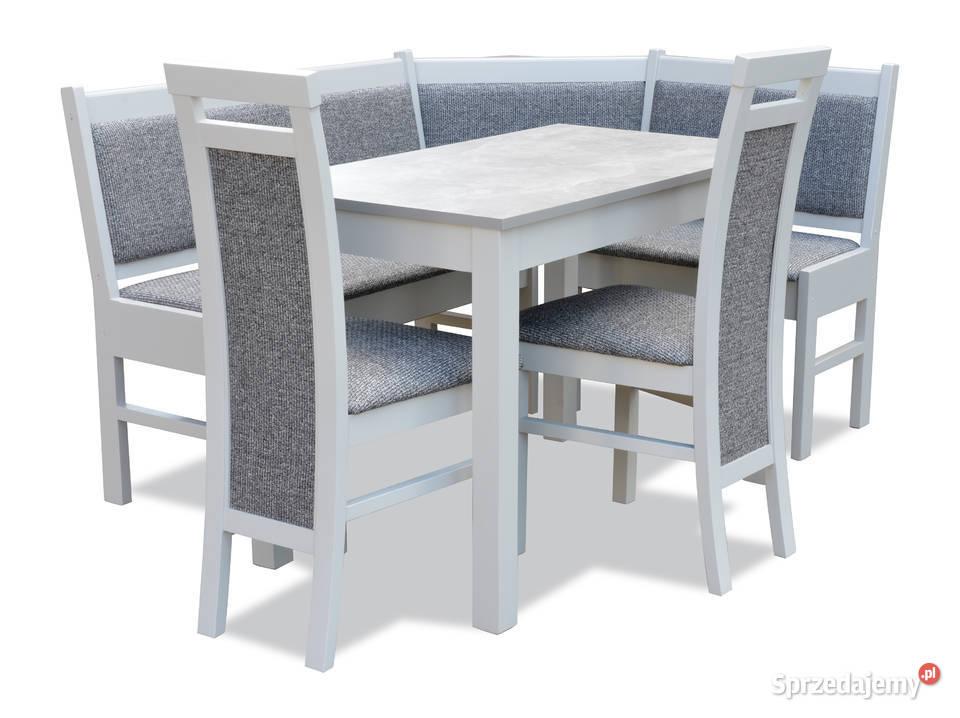 Narożnik kuchenny rogówka n8 POPIEL + krzesła nowoczesny
