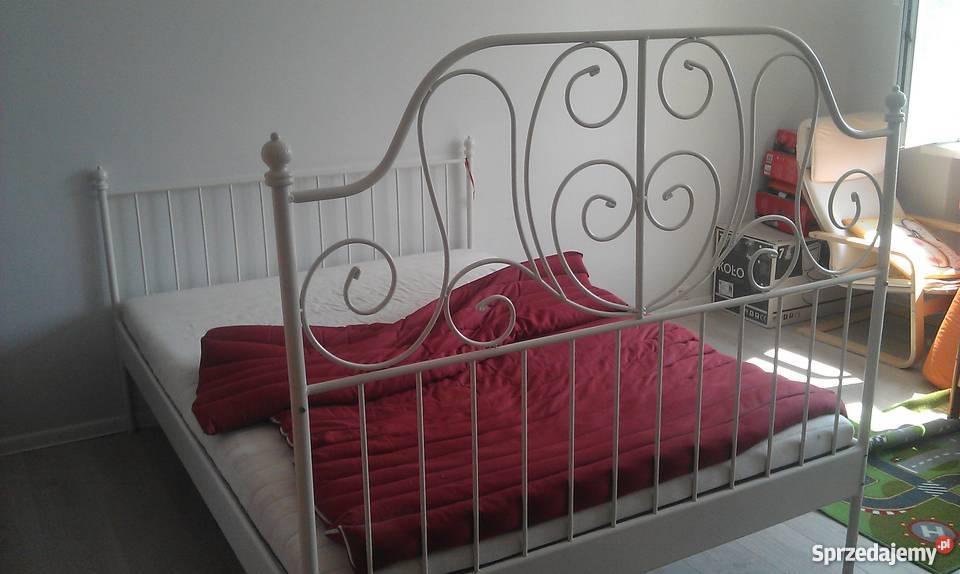 łóżko 2 Osobowe Białe Metalowe Ikea Wrocław Sprzedajemypl