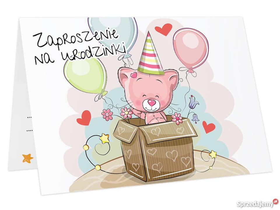 Zaproszenia Na Urodziny Dla Dziecka Koperta Z Kotek Toruń
