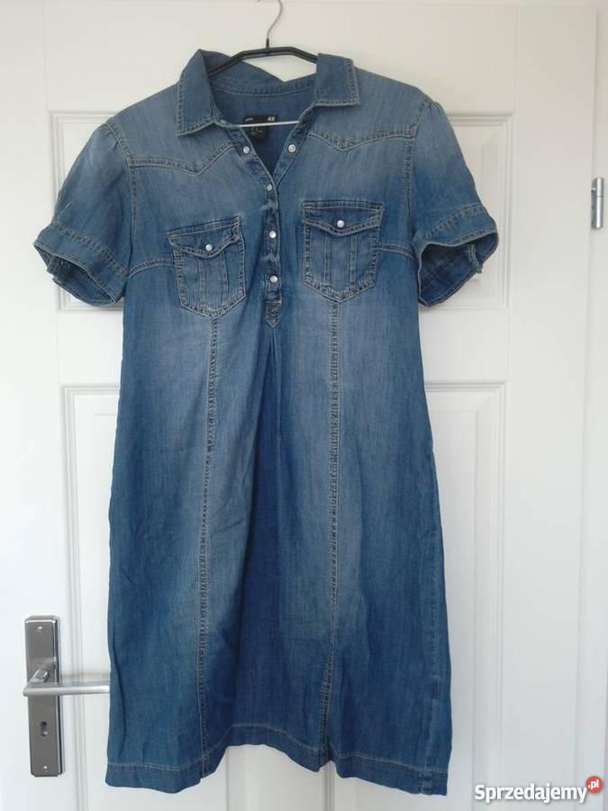 4de81e3d9b Sukienka ciążowa dżinsowa krótki rękaw L HM Rozmiar 40(L) Odzież