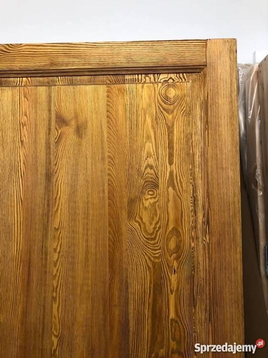 Drzwi postarzane ręki rustykalne ryflowane Drewno Grzybno sprzedam