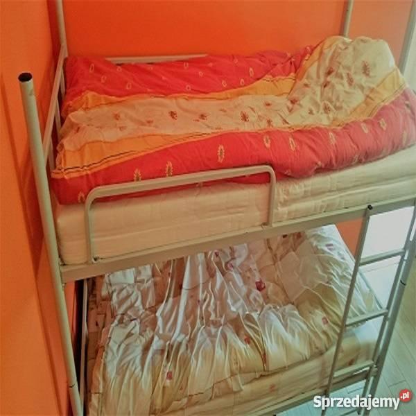 Łóżka piętrowe pracownicze stalowe łatwy montaż Lubin sprzedam