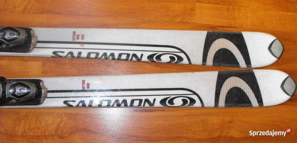 Narty Salomon Monocoque L170, 170cm + wiązania Rossignol axium męskie