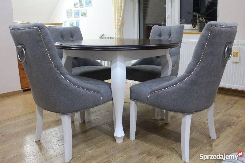 Nowoczesna architektura Ekskluzywne krzesło z kołatką pikowane z pinezkami producent SU98