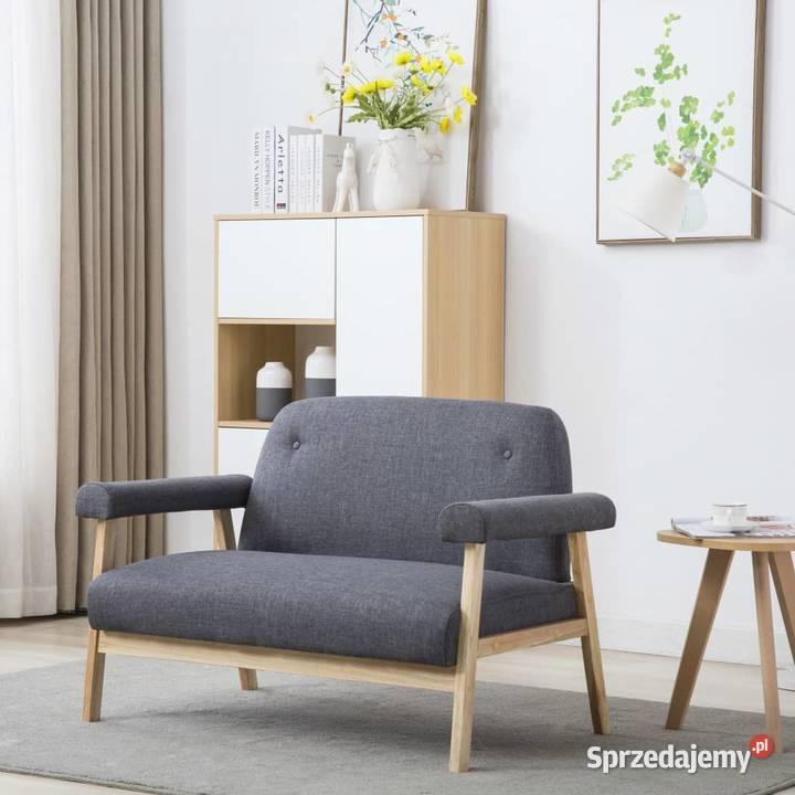 vidaXL Sofa 2-osobowa tapicerowana materiałem, 246646