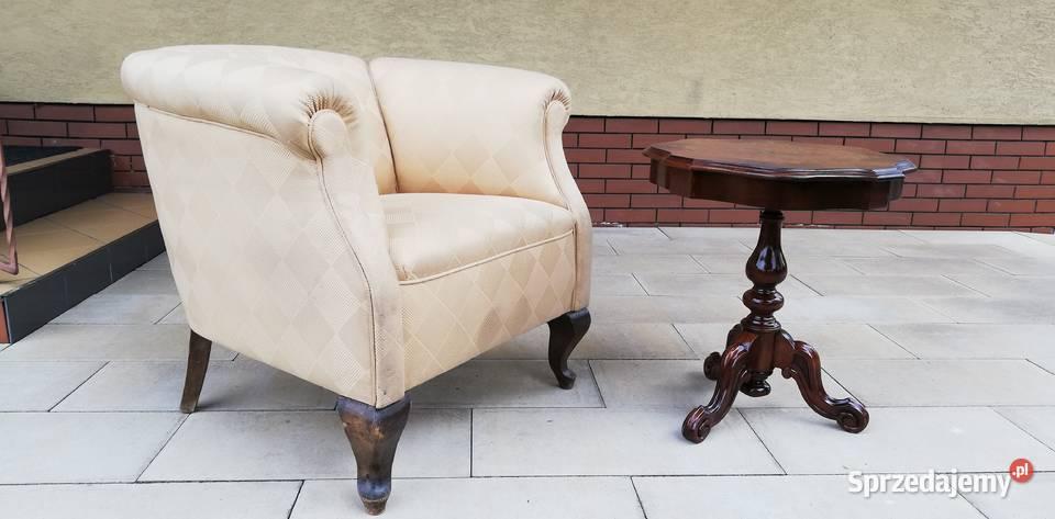 Fotel stylowy art deco eklektyczny do stolik kawowy