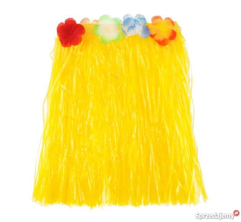 Spódniczka hawajska dla dzieci Żółta 40 cm taniec hula