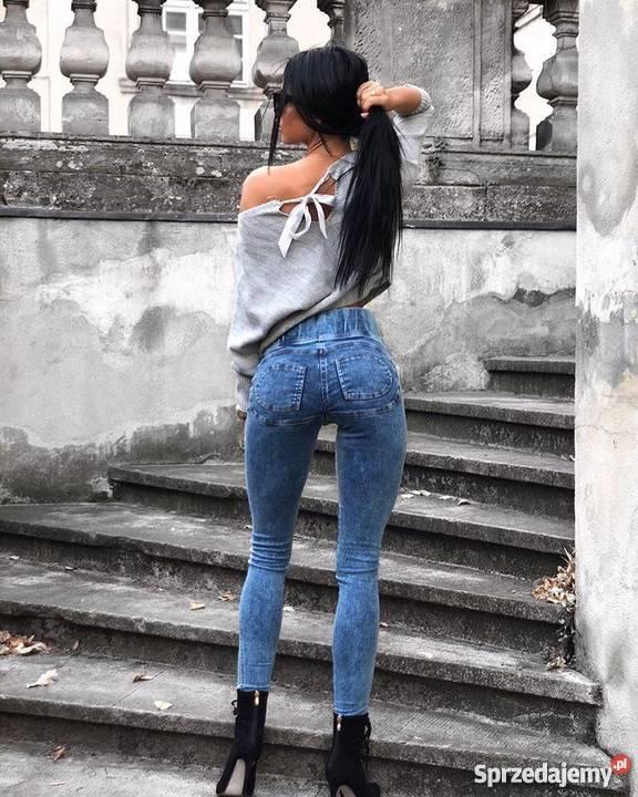 Cudowny model legginsy jeans marmur Konin - Sprzedajemy.pl
