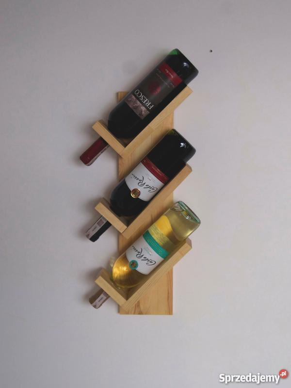 W Mega Półka na 3 butelki wina, drewniana półka na wino Warszawa YX89