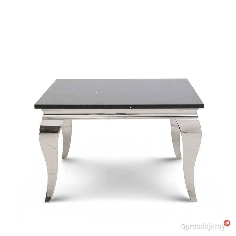 Stolik Ludwik 45 blat kamienny stylowy stół ława glamour