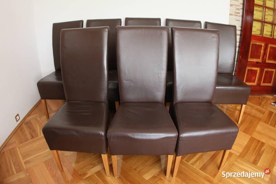 Krzesła tapicerowane (skóra) - bardzo ładne