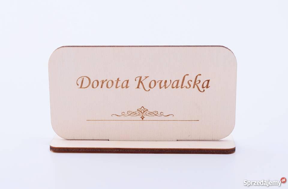 Winietki DREWNIANE wizytówki na stół WD2 Pozostałe Warszawa