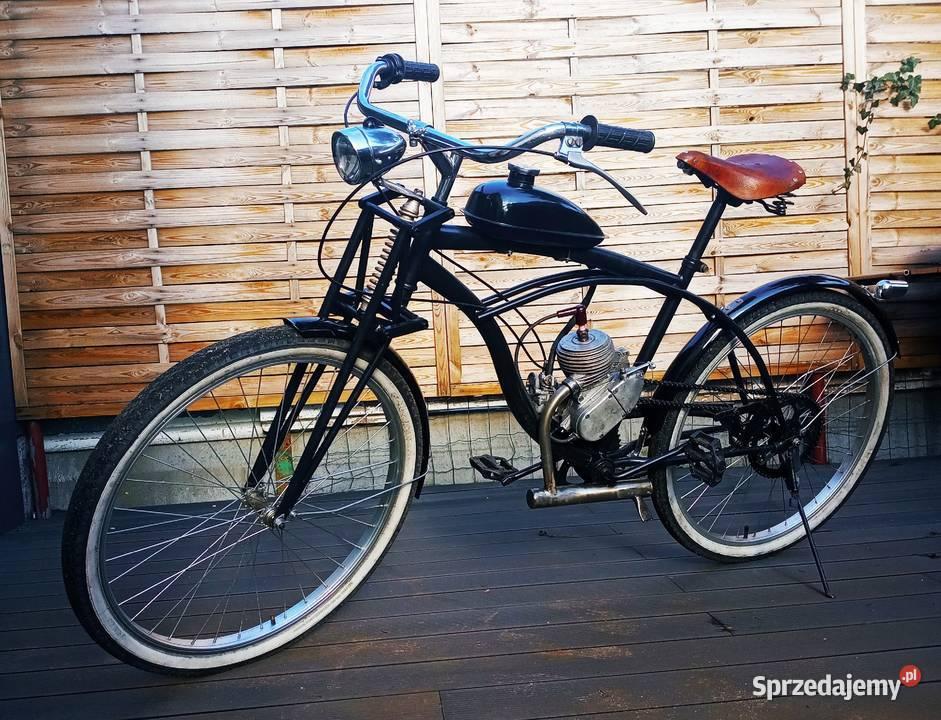 """Rower spalinowy cruiser vintage """"двигатель D4"""""""
