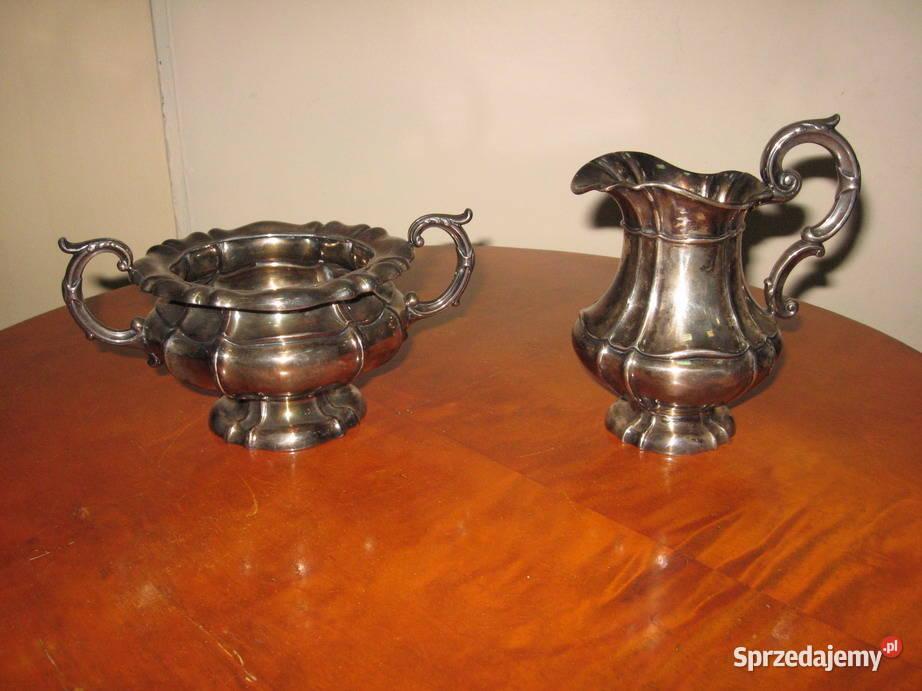 Cukiernica i mlecznik XIX w. srebro pr. 925