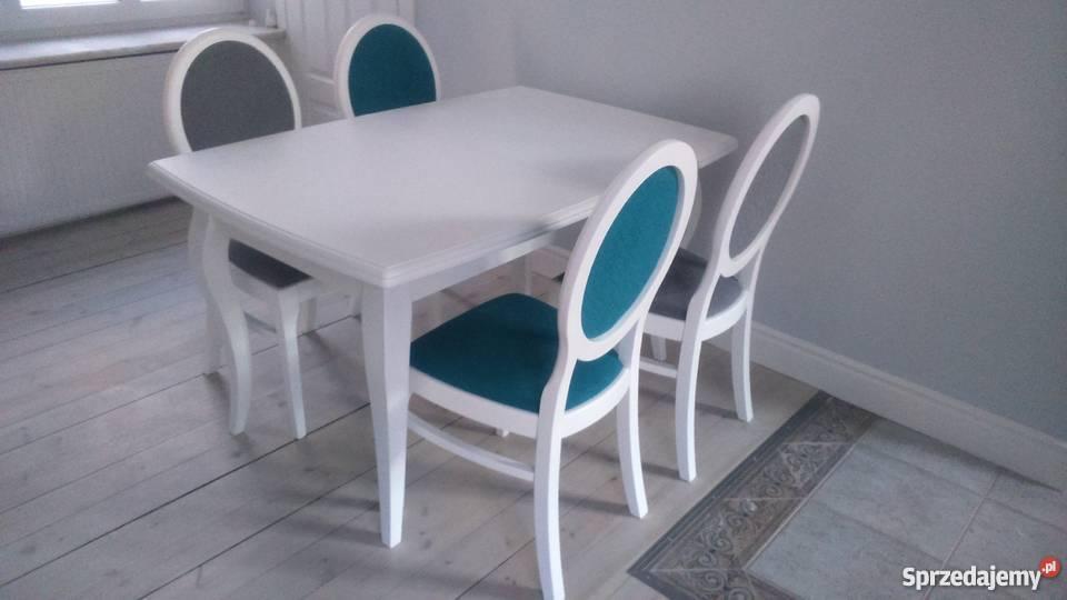 Stół biały 120x80/190 biały rozkładany lidwik elegancji