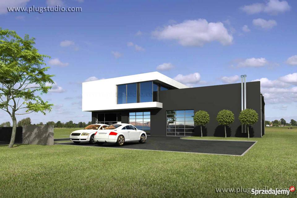 Projekt nowoczesnego domu z warsztatem ENERGOOSZCZĘDNY