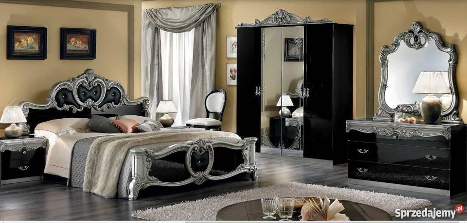 Sypialnia Włoska Z Kryształkami Svarovski Barocco Black