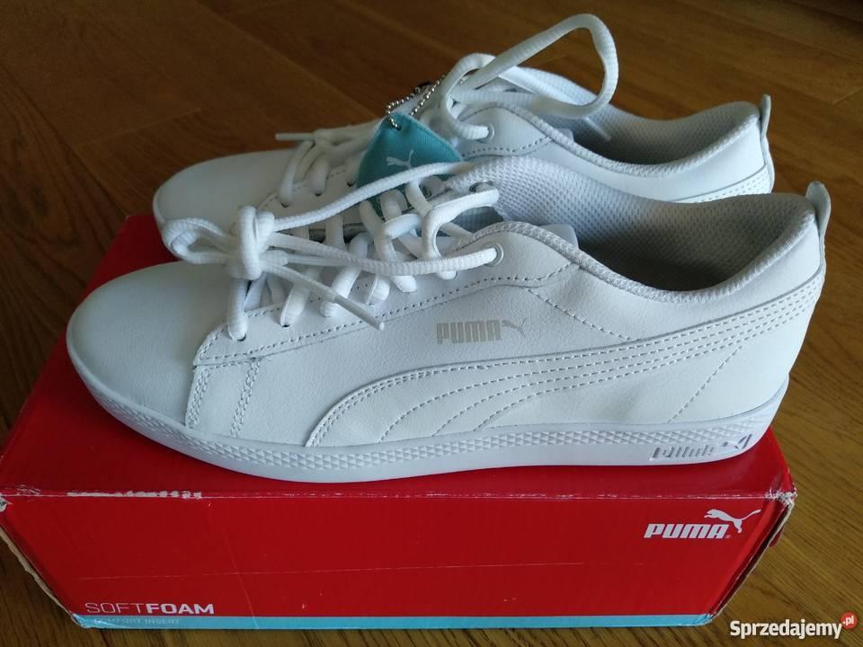 Buty Puma Smash Wns V2 L white rozm. 38,5 (24,5 cm) NOWE