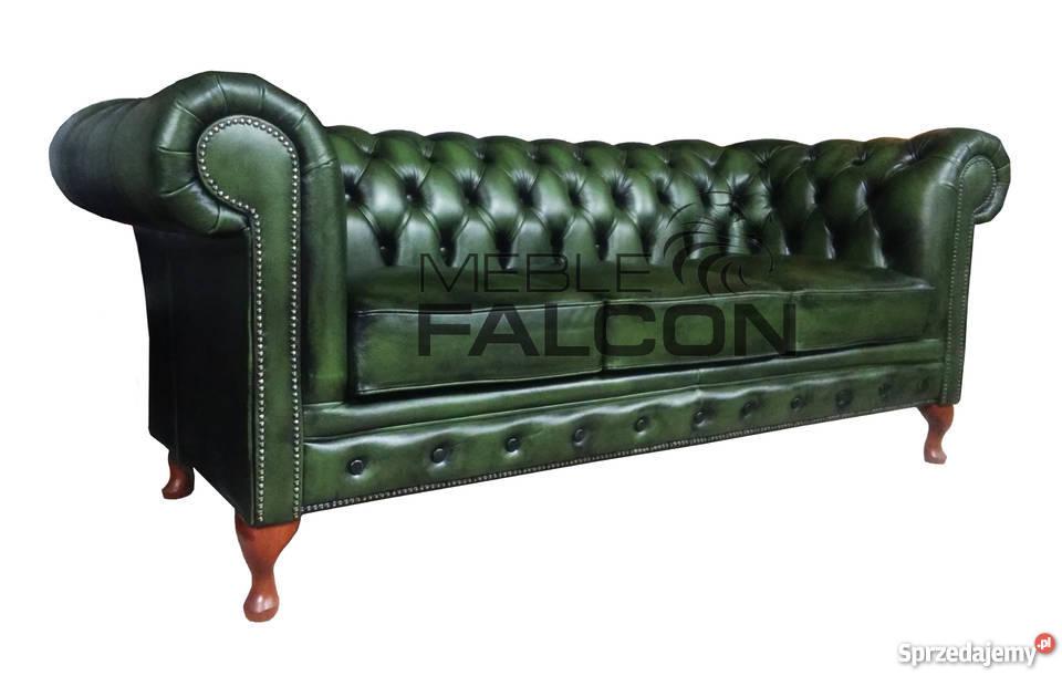 Pikowana Sofa Chesterfield Queen Anne Meble Falcon