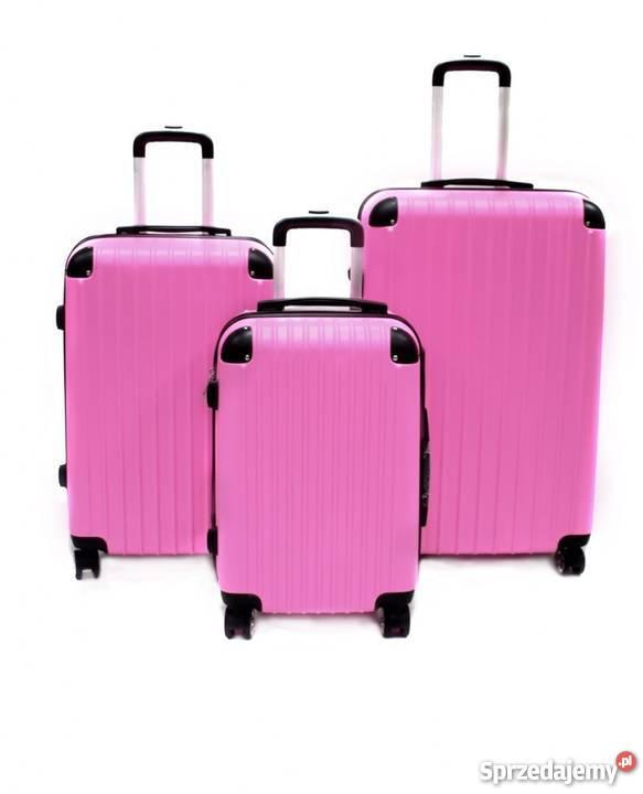 dc920de98cdd3 różowa walizka na kółkach - Sprzedajemy.pl