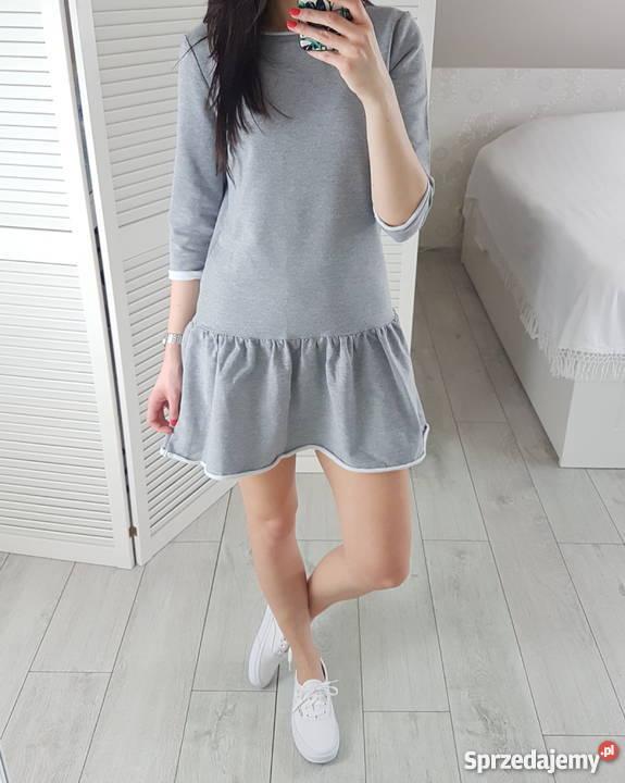c027c9c99c sukienki dresowe szare - Sprzedajemy.pl