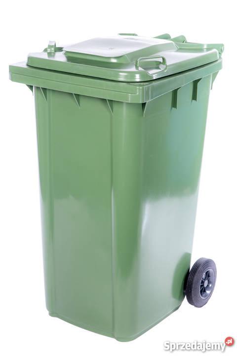 W Mega Pojemnik Kosz na śmieci odpady 240L GRAFIT ZIELONY Tanio EO66
