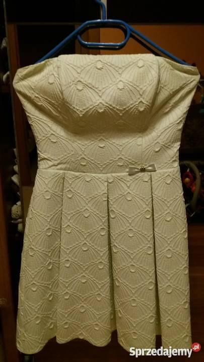 Pistacjowa sukienka na wesele, imprezę okolicznościową S