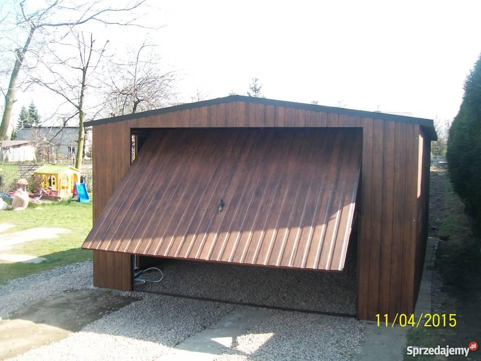 garaż blaszany 6x4 4x6 orzech złoty dąb Limanowa