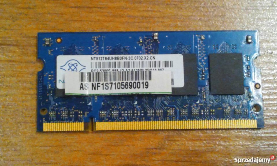 Pamięć Ram 512 Mb Do Laptopa Ddr 2 Toruń Sprzedajemy Pl