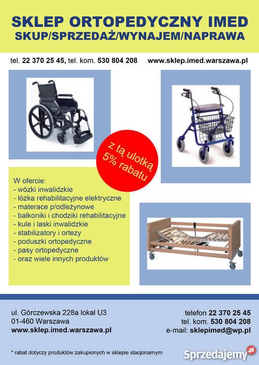 łóżko Szpitalne Rehabilitacyjne Wypożyczalnia Sprzętu Reha