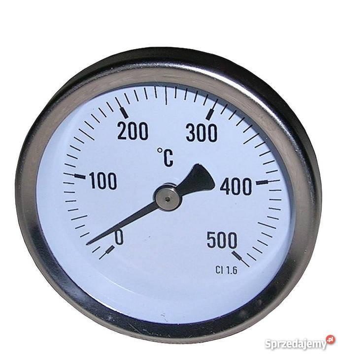 Termometr tarczowy 0500stC bimetaliczny śruba