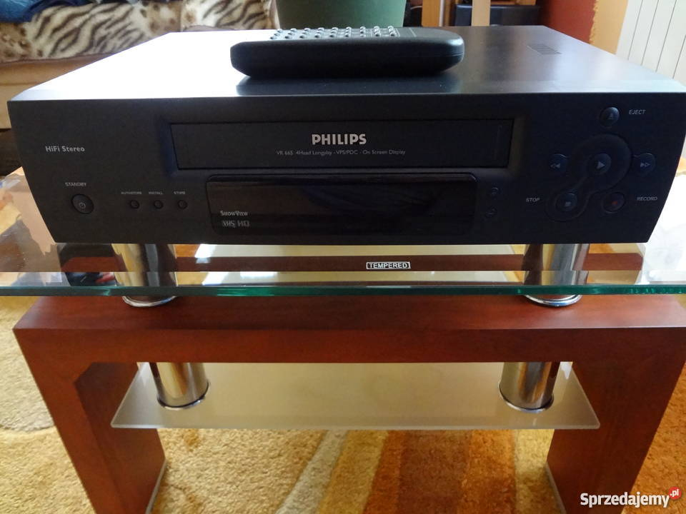 Magnetowid VHS Philips VR-665 HiFi Stereo ładny stan!!!
