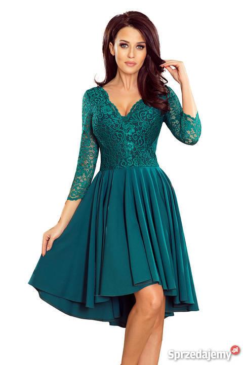 1777d287ef5235 JOKA NICOLLE sukienka zielona koronka S M L XL Rozmiar 36(S) śląskie