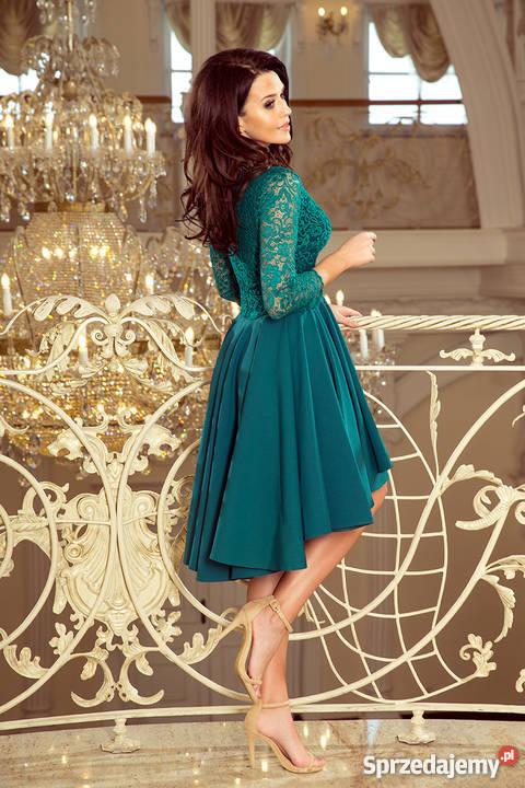 a6dcae2c5fd6d9 JOKA NICOLLE sukienka zielona koronka S M L XL niebieski Mykanów