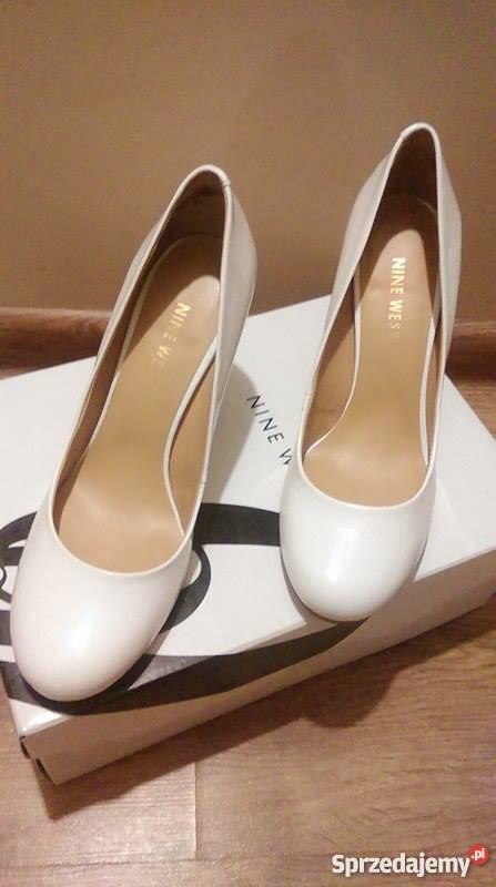 961e2ca5ae306 Nine west czółenka szpilki białe buty ślubne rozm 35.5 Kobyłka ...