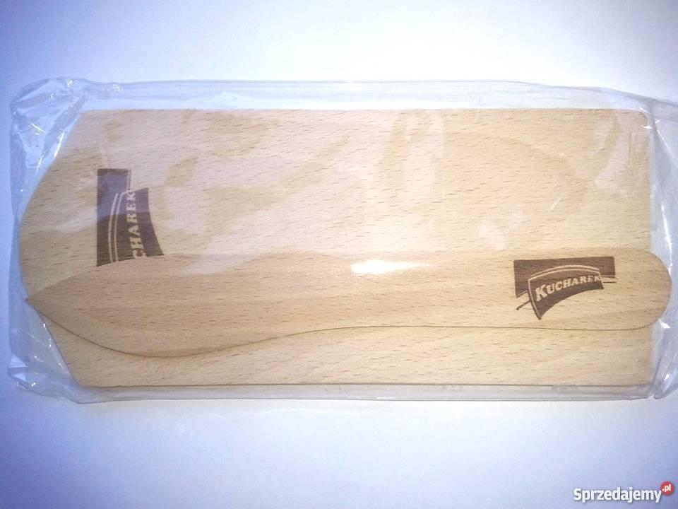 Drewniana deseczka do krojenia nożyk DESKA I NÓŻ