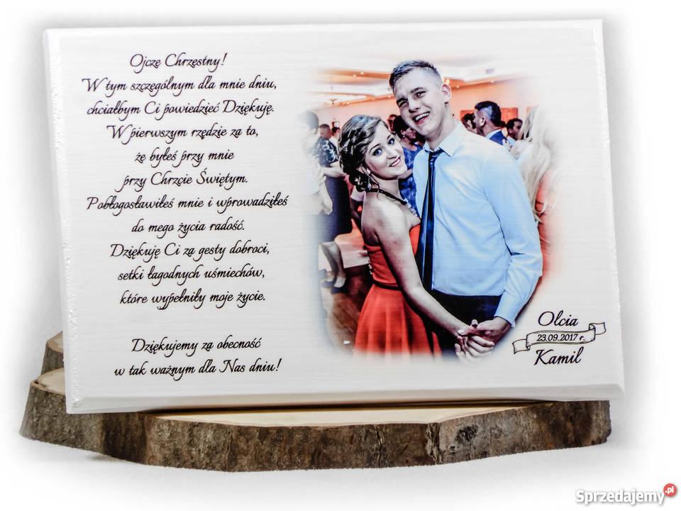 Podziękowania ślubne Pamiątka ślub Dla Rodziców świadków Zgierz
