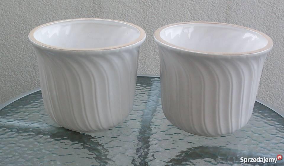 Doniczki Donice Ceramiczne Białe